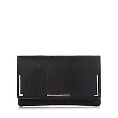 J by Jasper Conran - Designer black mock croc clutch bag