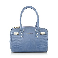 J by Jasper Conran - Designer blue leather reptile small grab bag