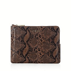 J by Jasper Conran - Designer leather snake clutch bag