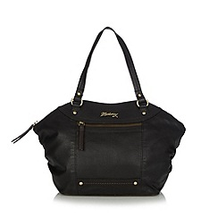 Mantaray - Black leather winged grab bag