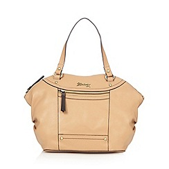 Mantaray - Tan leather winged grab bag