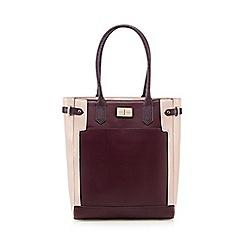 J by Jasper Conran - Pink block colour shopper two exterior bag