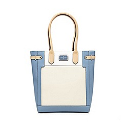 J by Jasper Conran - Blue and cream grained tote bag