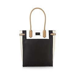 J by Jasper Conran - Designer black colour block shopper bag
