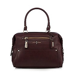 J by Jasper Conran - Dark red zip bowler bag
