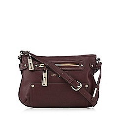 J by Jasper Conran - Dark red zip cross body bag