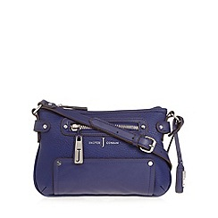 J by Jasper Conran - Designer blue large zip cross body bag