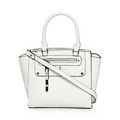 J by Jasper Conran - Designer white exposed zip grab bag