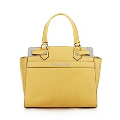 J by Jasper Conran - Designer yellow metal corner medium tote bag