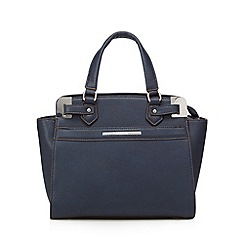 J by Jasper Conran - Designer navy metal corner grab bag
