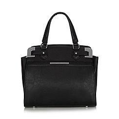 J by Jasper Conran - Designer black metal corner grab bag