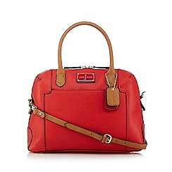 J by Jasper Conran - Red logo plate bowler bag