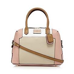 J by Jasper Conran - Designer pink logo plate bowler bag