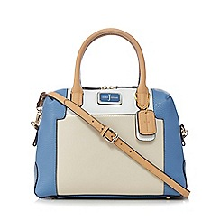 J by Jasper Conran - Light blue grained colour block bowler bag