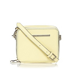 J by Jasper Conran - Designer pale yellow cross body box bag