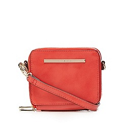 J by Jasper Conran - Designer coral box cross body bag
