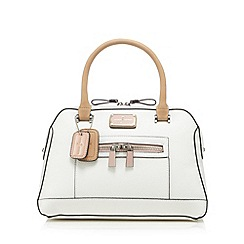 J by Jasper Conran - Designer white curve zip grab bag