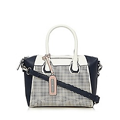 J by Jasper Conran - Designer navy perforated grab bag