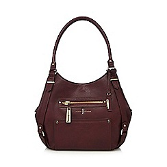 J by Jasper Conran - Dark red shoulder bag