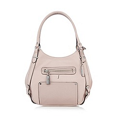 J by Jasper Conran - Designer pale pink three compartment grab bag