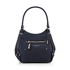 J by Jasper Conran - Designer navy three compartment grab bag