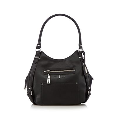 J by Jasper Conran Designer black zipped pocket hobo bag