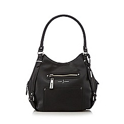 J by Jasper Conran - Designer black zipped pocket hobo bag