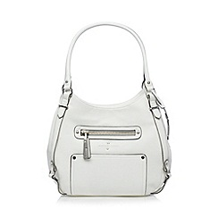 J by Jasper Conran - Designer white zip shoulder bag