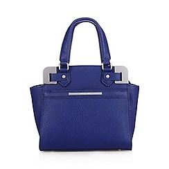 J by Jasper Conran - Designer blue metal corner grab bag