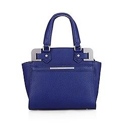 J by Jasper Conran - Designer blue metal corner grab bag
