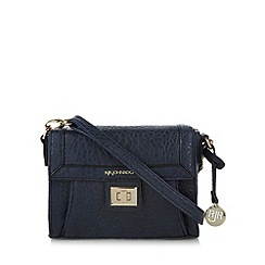 RJR.John Rocha - Designer navy grained cross body bag