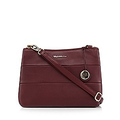 RJR.John Rocha - Dark red leather panelled cross body bag