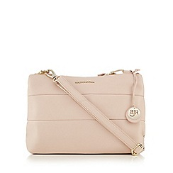 RJR.John Rocha - Light pink leather panelled cross body bag