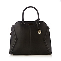 RJR.John Rocha - Designer black panelled large dome tote bag