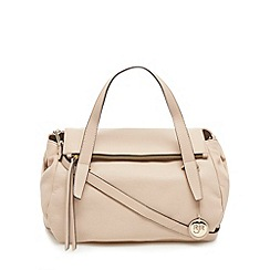 RJR.John Rocha - Designer light pink large fold down leather bowler bag