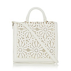 RJR.John Rocha - White floral cutout cross body bag