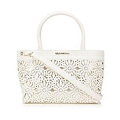 RJR.John Rocha - Designer white floral cutout grab bag