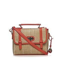 RJR.John Rocha - Designer coral straw satchel bag