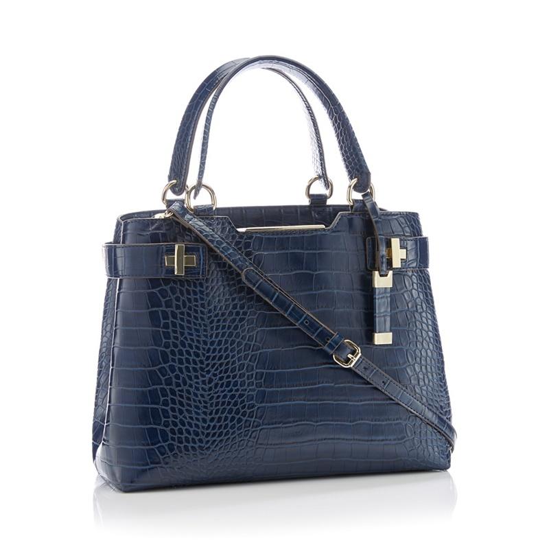 533dafc4f004 J by Jasper Conran - Navy  Bordeaux  Cross Embossed Faux Leather Grab Bag
