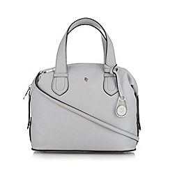 Betty Jackson.Black - Designer light grey leather tote bag