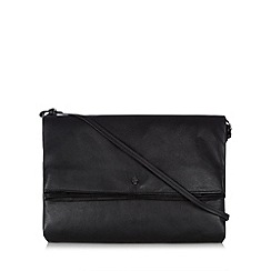 Betty Jackson.Black - Designer black leather fold down clutch bag