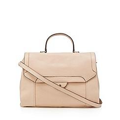 Betty Jackson.Black - Designer light pink leather satchel bag