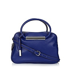 Betty Jackson.Black - Designer dark blue three compartment grab bag
