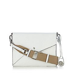 Betty Jackson.Black - Designer white cross body leather bag