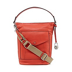Betty Jackson.Black - Designer coral strap leather bucket bag