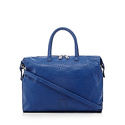 Betty Jackson.Black - Designer bright blue grained shopper bag