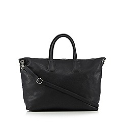 Betty Jackson.Black - Designer black elephant grain shopper bag