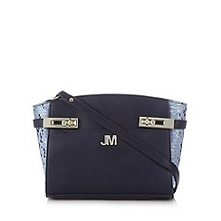 Star by Julien Macdonald - Designer navy twist lock trim cross body bag