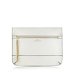 Star by Julien Macdonald - Designer white tassel detail clutch bag