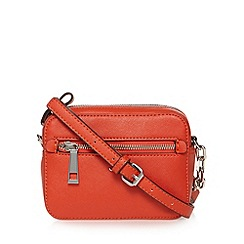 Star by Julien Macdonald - Designer orange double zip detail cross body bag